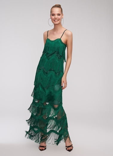 People By Fabrika Elbise Yeşil